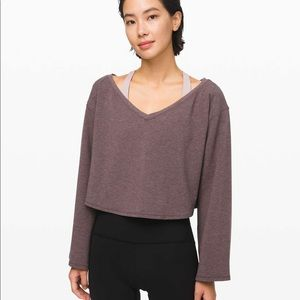 Lululemon cropped pullover sweater size 4